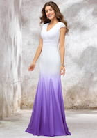 Trumpet/Mermaid Sleeveless Sweep Train Chiffon/Satin Wedding Dress With Pleated