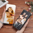 Custom Personalized Double Sided Photo Leather Women's Wallet