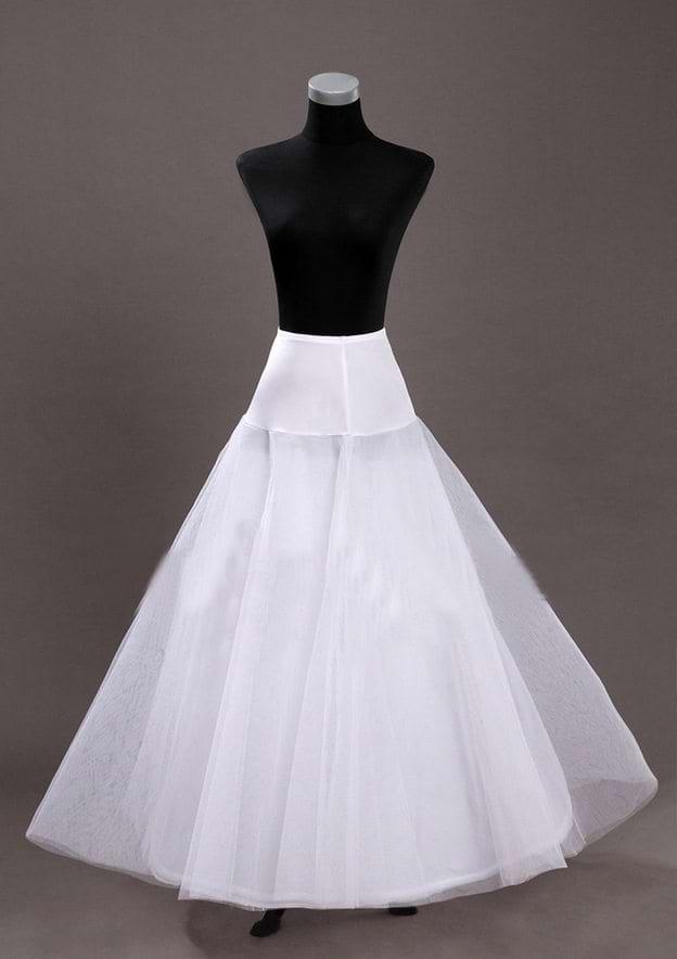 Women Tulle Netting Long/Floor-length 2 Tiers Bridal Petticoats
