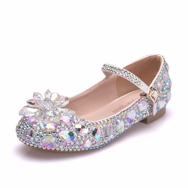 Girl's PU With Rhinestone Flats Shoes