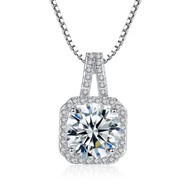Women's Beautiful Silver Necklaces With Cubic Zirconia