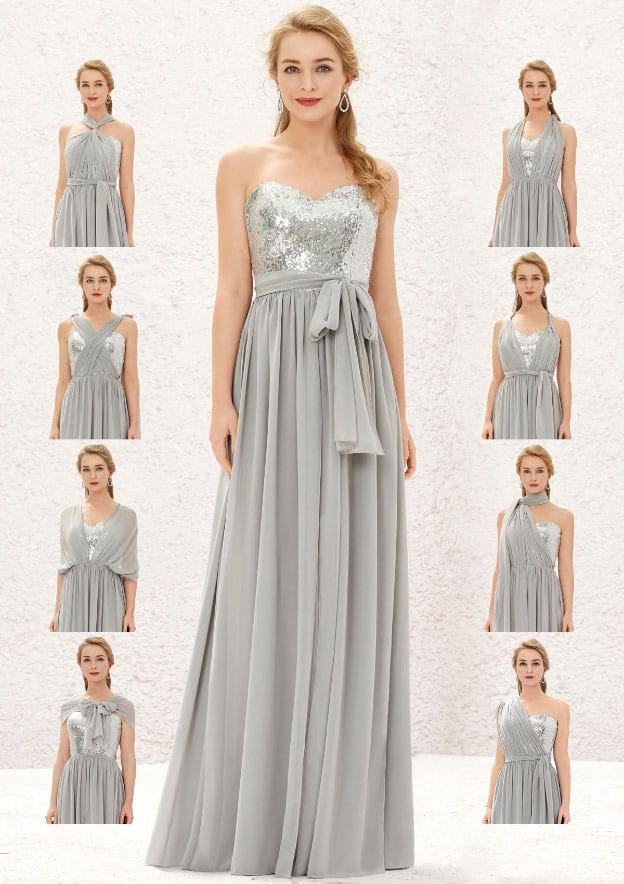 Style-Your-Way 11 Tie Bridesmaid Dress Convertible Style M19235B