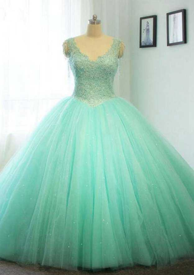 Ball Gown V Neck Sleeveless Chapel Train Tulle Wedding Dress With Beading Crystal Detailing Side Draping