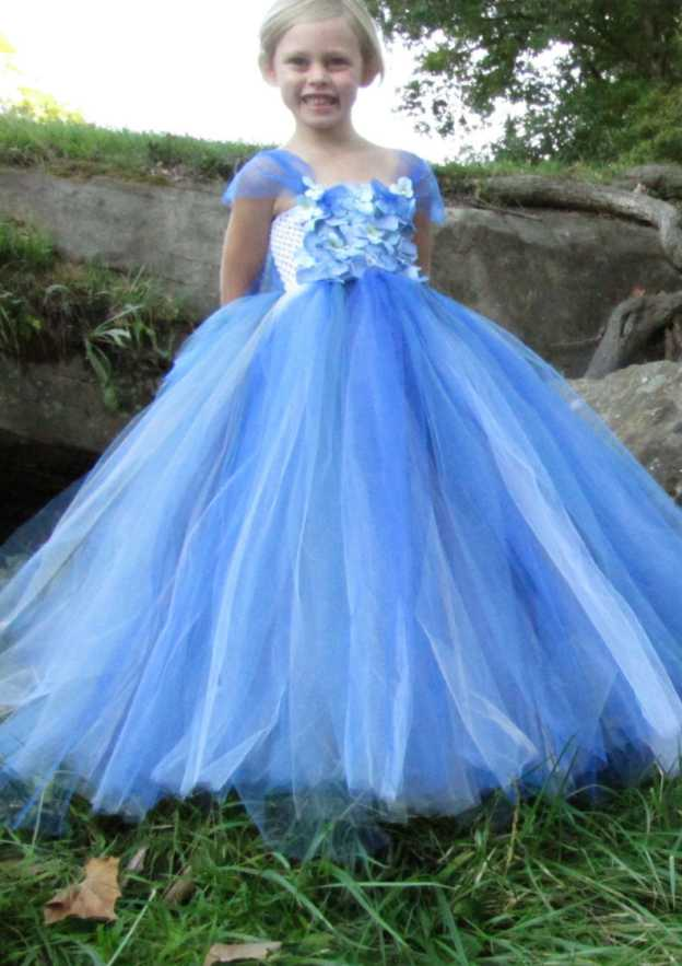 Ball Gown Square Neckline Sleeveless Long/Floor-Length Tulle Flower Girl Dress With Appliqued