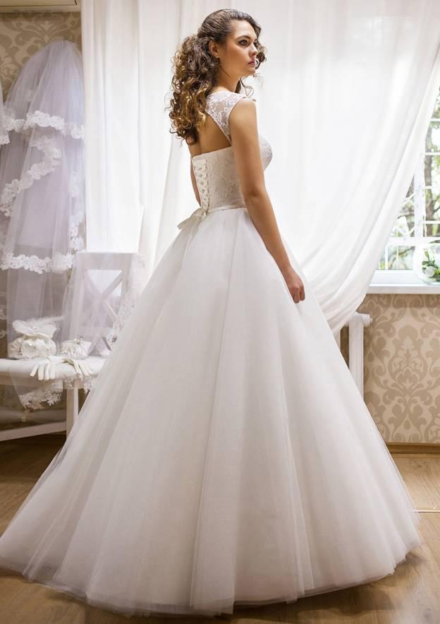 A-Line/Princess Bateau Sleeveless Long/Floor-Length Tulle Wedding Dress With Bowknot Lace