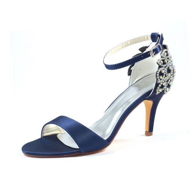 Pumps Sandals Wedding Shoes Stiletto Heel Satin Wedding Shoes With Buckle Rhinestone