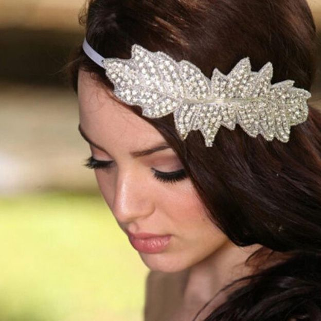 Artificial Silk Ladies Headbands With Rhinestone