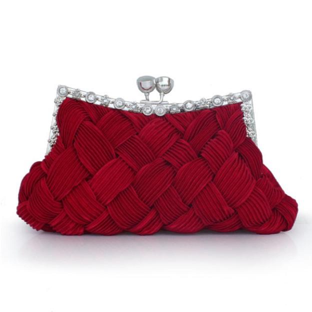 Silk Adjustable Wallets & Accessories With Crystal/Rhinestone Glitter
