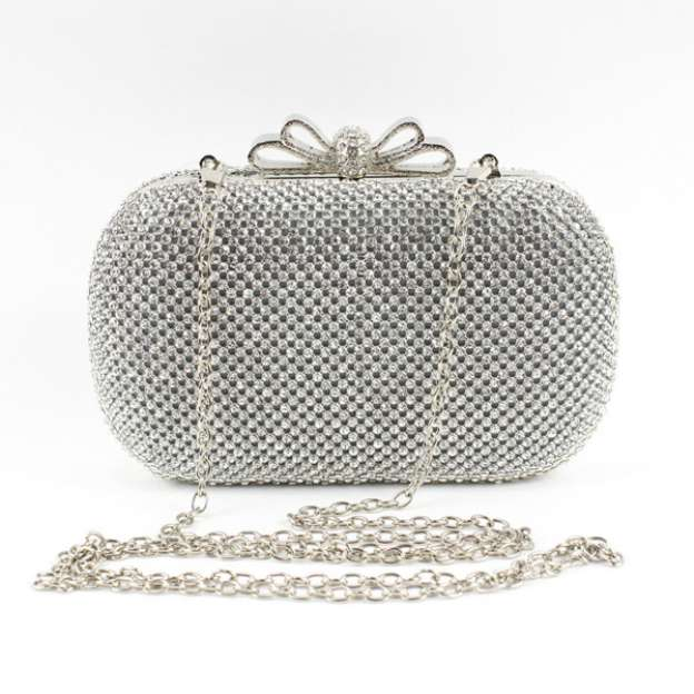 Metal Adjustable Bridal Purse With Crystal/Rhinestone