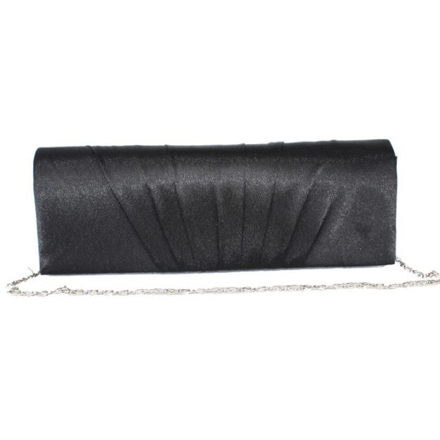Silk Chain Clutches With Pleated