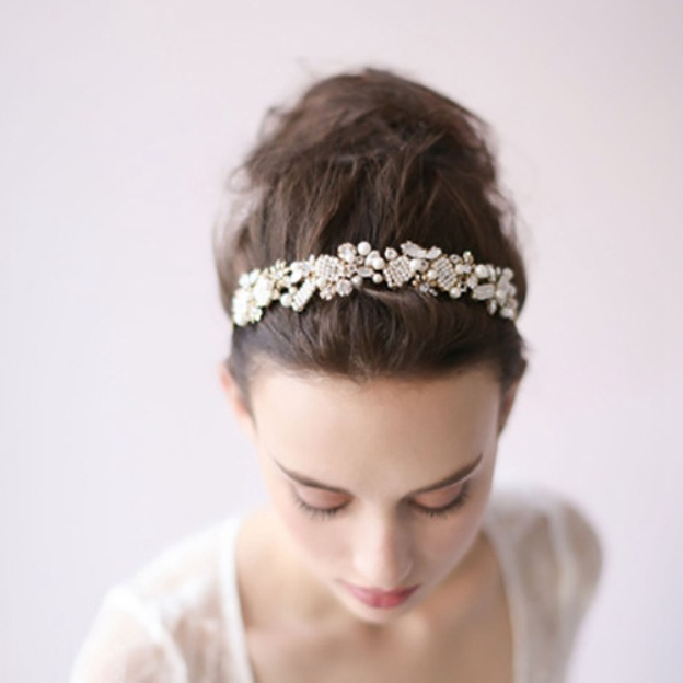 Alloy Ladies Headbands With Pearl