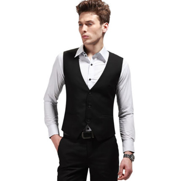 Men'S Cotton Anniversary Casual Engagement Men'S Waistcoat