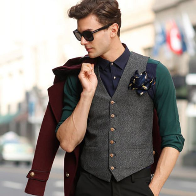 Men'S Cotton Casual Engagement Special Occasion Men'S Waistcoat