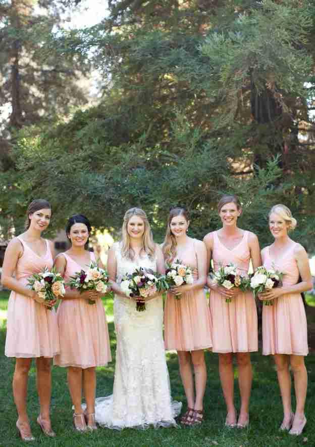 A-Line/Princess V Neck Sleeveless Short/Mini Chiffon Bridesmaid Dresses With Pleated
