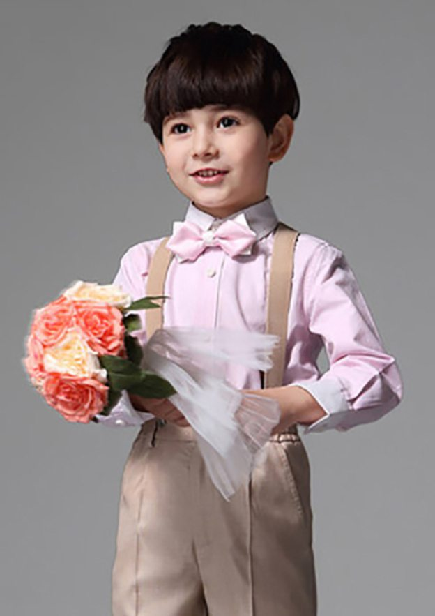 Polyester/Cotton Blend Bow As Picture Ring Bearer Suits