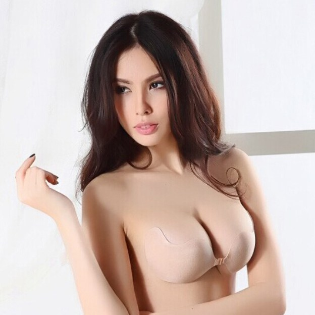 Front Closure 1/2 Cup Strapless Chinlon Invisible Bras for Wedding Special Occasion Casual