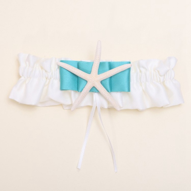 Satin Special Occasion Wedding Garter With Ribbon