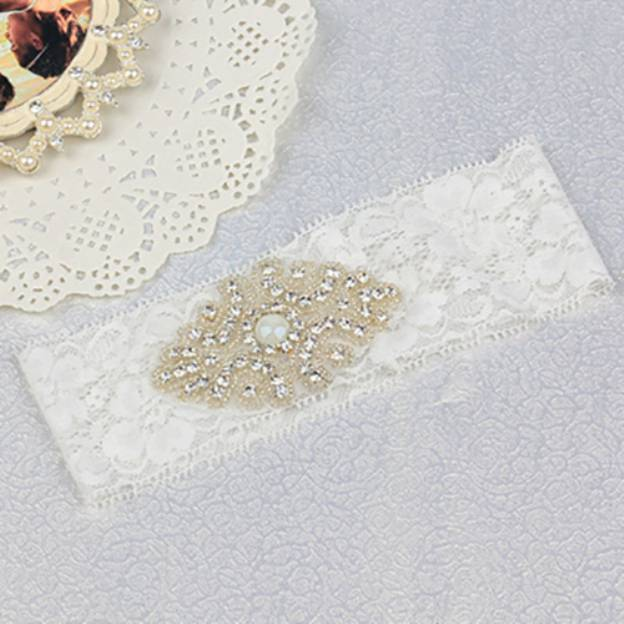 Lace Special Occasion Wedding Garter With Rhinestone