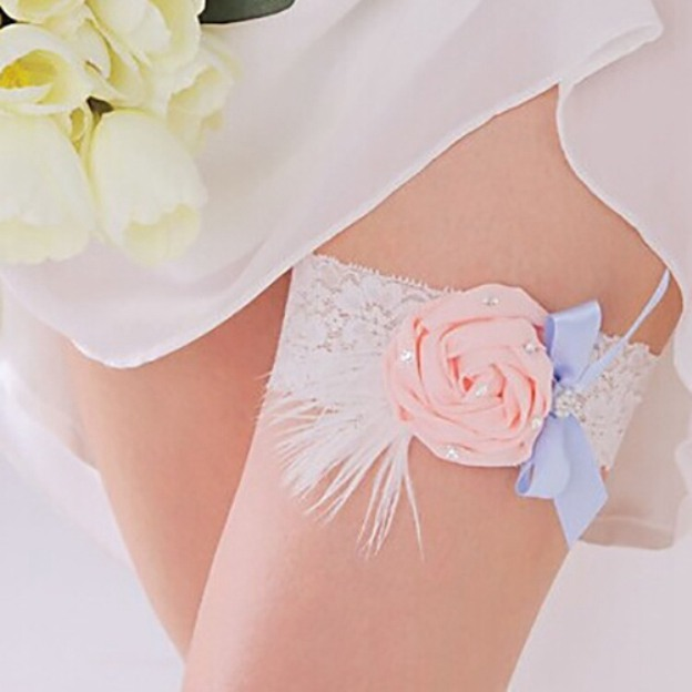 Lace Special Occasion Wedding Garter With Bowknot Flowers