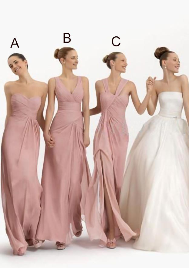 A-Line/Princess Sweetheart Sleeveless Long/Floor-Length Chiffon Bridesmaid Dress With Pleated
