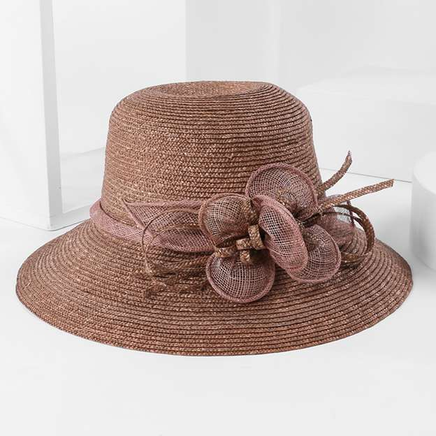 Ladies' Beautiful/Eye-catching/Charming Rattan Straw Straw Hats/Floppy Hats/Beach/Sun Hats With Bowknot