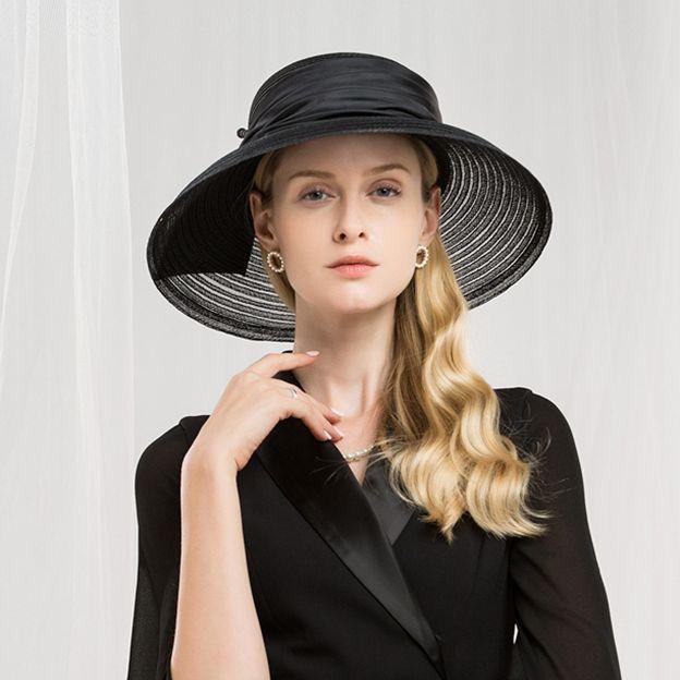Ladies' Elegant/Glamourous Cambric Floppy Hats/Beach/Sun Hats