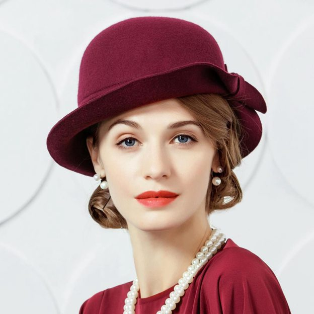 Ladies' Beautiful/Elegant Wool Bowler/Cloche Hats/Tea Party Hats