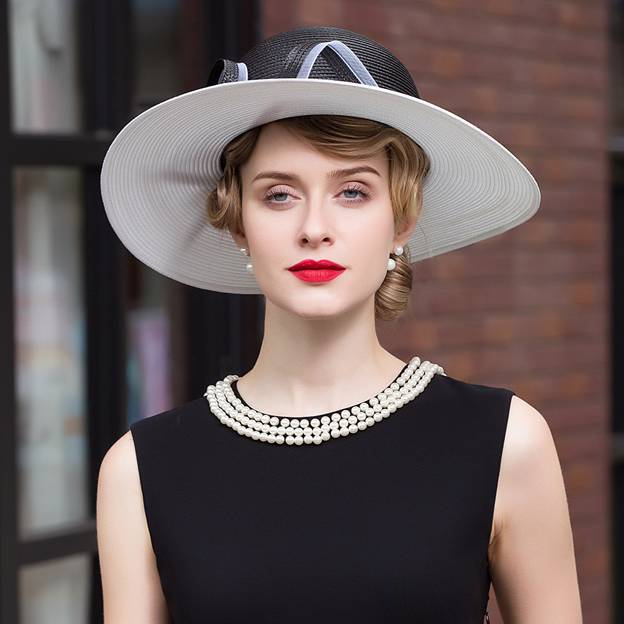 Ladies' Glamourous/Charming Polyester Straw Hats/Beach/Sun Hats