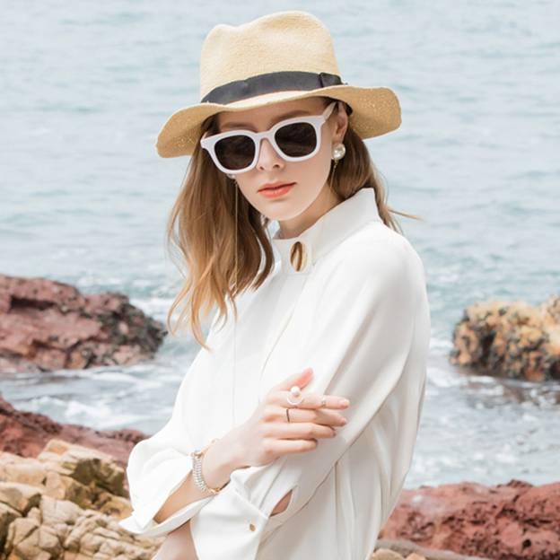Ladies' Elegant/Simple Rattan Straw Straw Hats/Beach/Sun Hats/Fedoras Hats With Bowknot