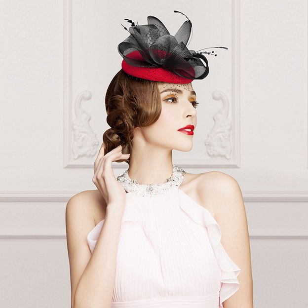 Ladies' Elegant/Charming Wool Fascinators/Tea Party Hats With Bowknot Tulle Feather