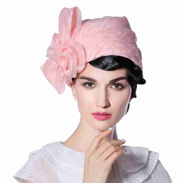 Ladies' Unique/Fancy Organza Floppy Hats/Tea Party Hats With Flower