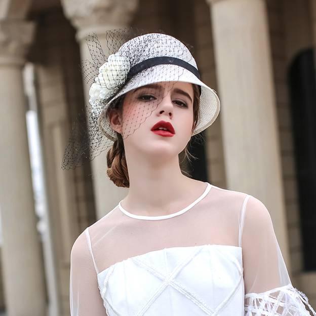 Ladies' Beautiful/Elegant Wheat Straw Straw Hats/Beach/Sun Hats With Flower