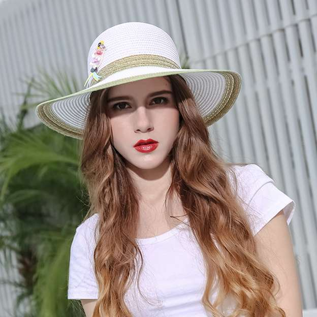 Ladies' Beautiful/Special Papyrus Straw Hats/Beach/Sun Hats With Beading Sequins