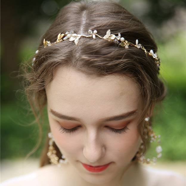 Ladies Eye-catching/Charming Alloy/Imitation Pearls With Rhinestone Crystal Headbands