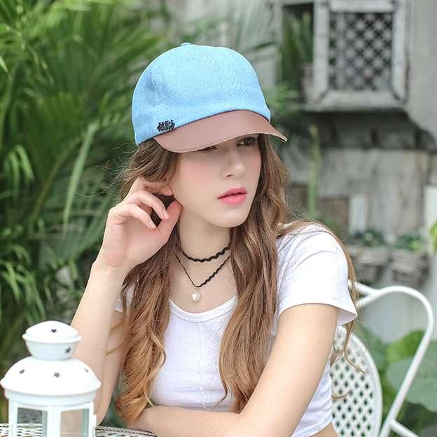 Ladies' Simple/Nice Cotton Leather Baseball Caps/Beach/Sun Hats