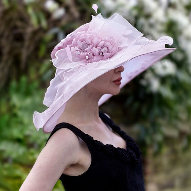 Ladies' Beautiful/Elegant Silk Tea Party Hats/Kentucky Derby Hats With Beading Flower