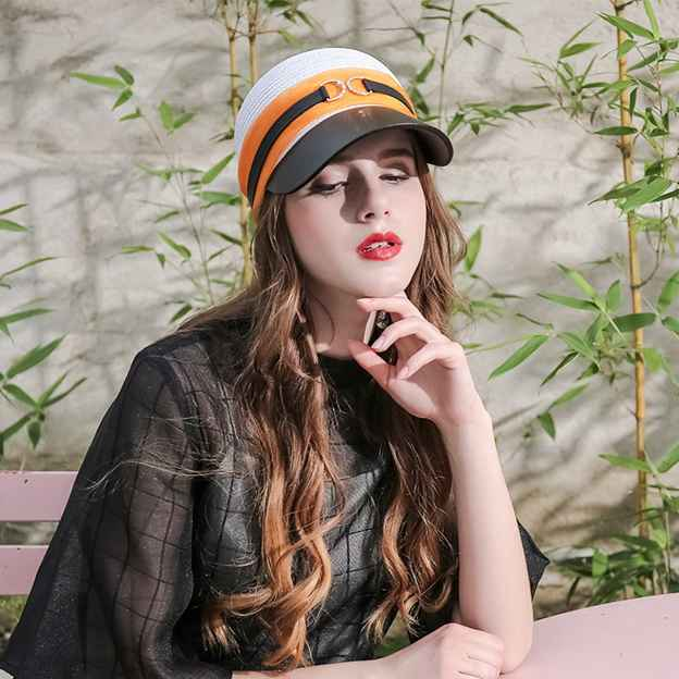 Ladies' Simple/Nice Papyrus Baseball Caps/Beach/Sun Hats With Diamond