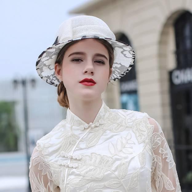Ladies' Elegant/Nice Linen Beach/Sun Hats/Tea Party Hats With Bowknot