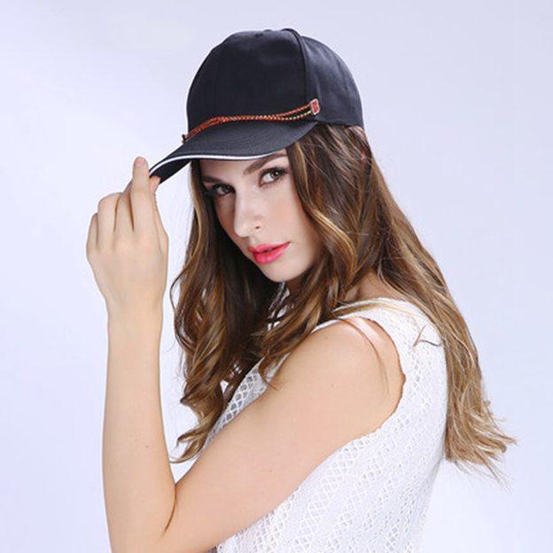 Ladies' Nice/Simple Polyester Baseball Caps/Beach/Sun Hats With Beading