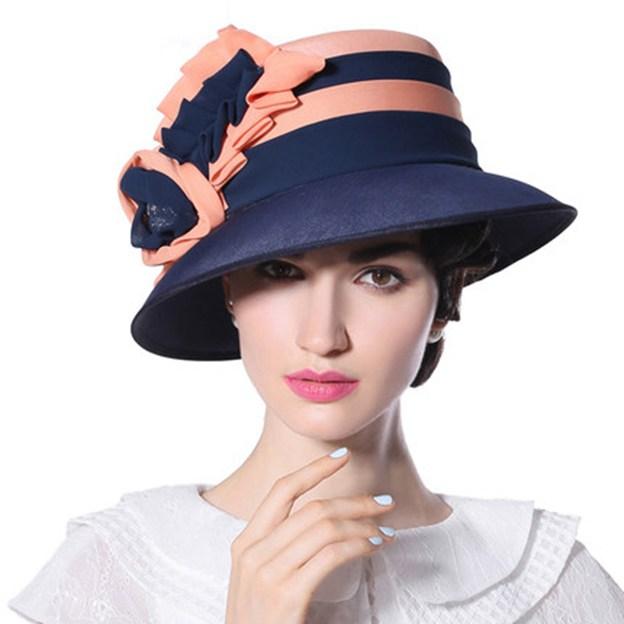 Ladies' Elegant/Beautiful Chiffon Beach/Sun Hats/Tea Party Hats With Flower Diamond