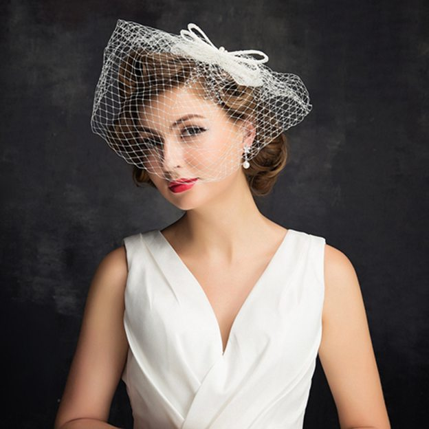Ladies' Elegant/Glamourous Net Yarn Cambric Fascinators With Bowknot