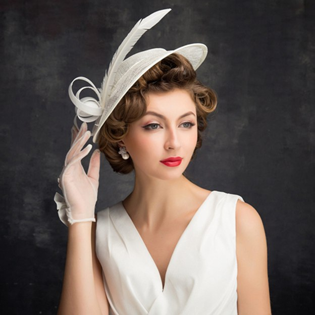 Ladies' Simple/Nice Cambric Fascinators With Bowknot Feather