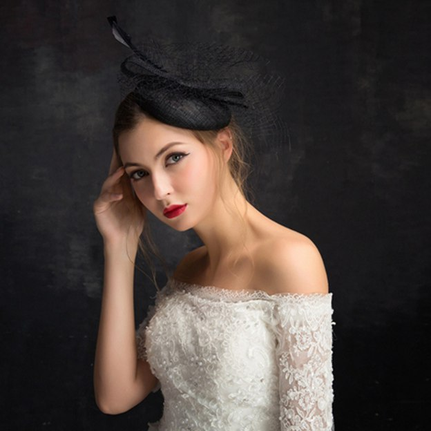 Ladies' Elegant/Glamourous Cambric Fascinators With Feather Tulle