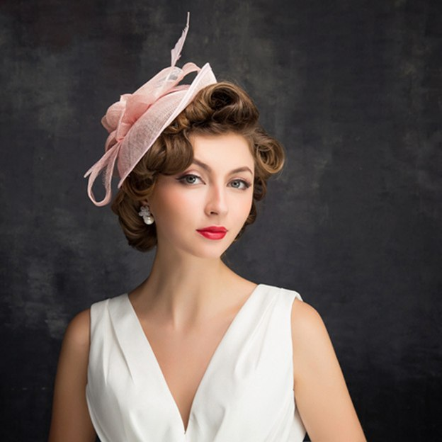 Ladies' Simple/Elegant Cambric Fascinators With Feather Flower