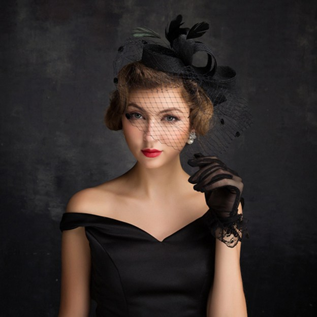 Ladies' Eye-catching/Beautiful Cambric Fascinators With Feather Tulle Bowknot