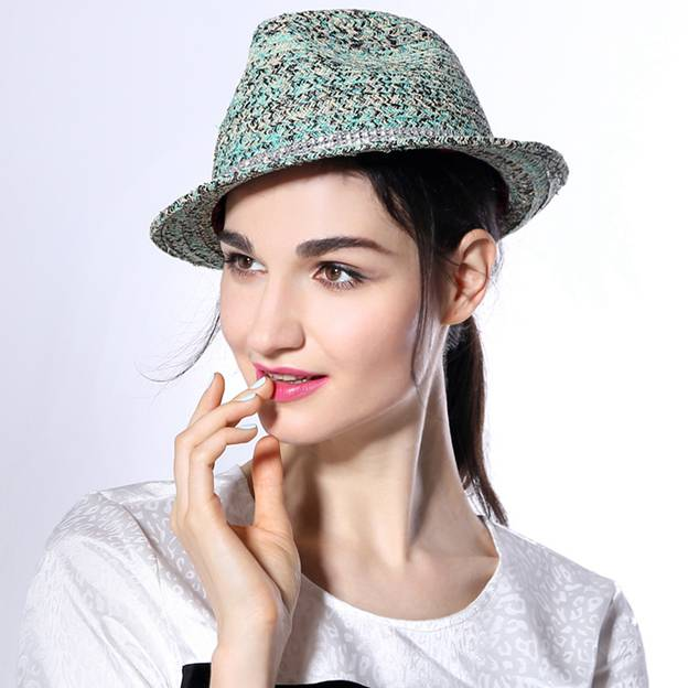 Ladies' Simple/Nice Linen Panama Hats/Beach/Sun Hats With Diamond