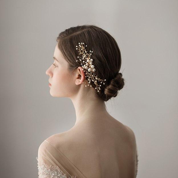 Ladies Alloy/Imitation Pearls With Venetian Pearl/Rhinestone Combs & Barrettes