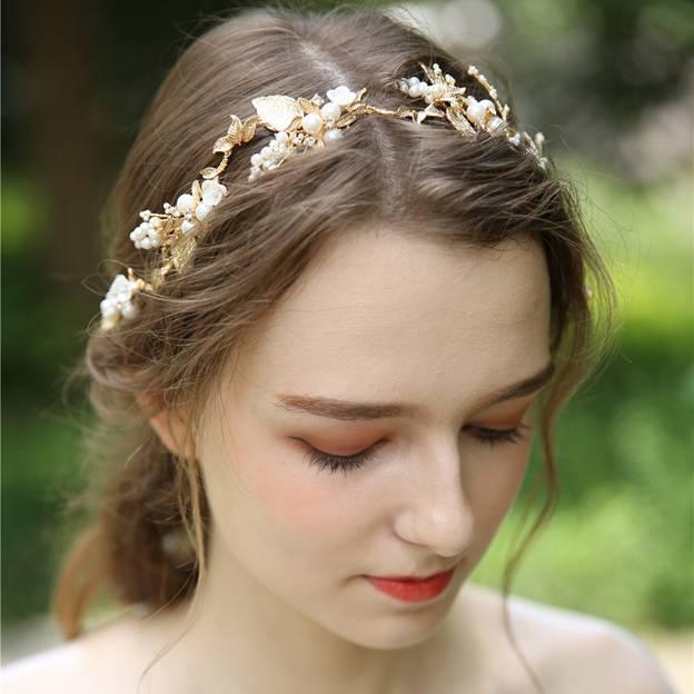 Ladies Alloy/Ceramic/Imitation Pearls With Beads/Rhinestone Headbands