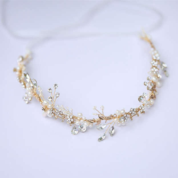 Ladies Alloy/Freshwater Pearl/Imitation Pearls With Beads/Rhinestone/Crystal Headbands