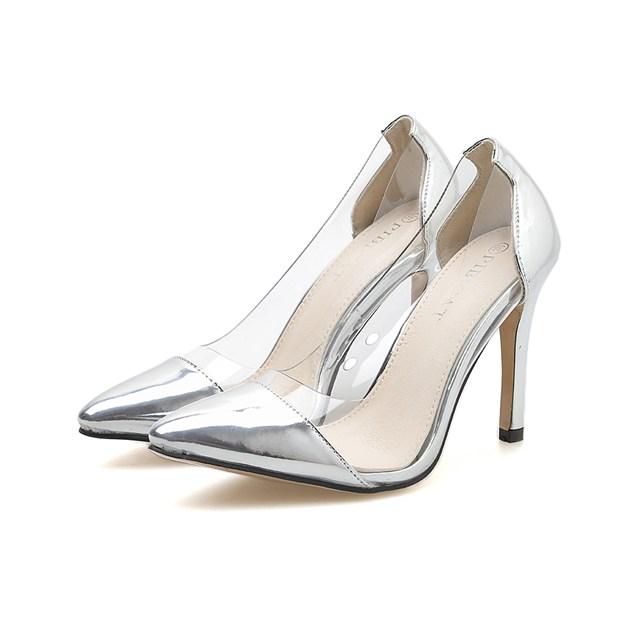 Women's Leatherette Heels Pumps Close Toe Fashion Shoes